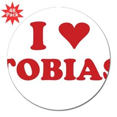 "I LOVE TOBIAS 3"" Lapel Sticker (48 pk)"