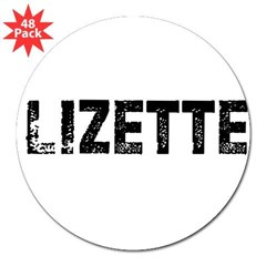 "Lizette Rectangle 3"" Lapel Sticker (48 pk)"