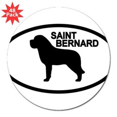 "Saint Bernard Oval 3"" Lapel Sticker (48 pk)"