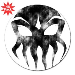 "Cthulhu (distressed) Rectangle 3"" Lapel Sticker (48 pk)"