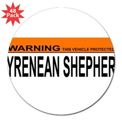 "PYRENEAN SHEPHERD 3"" Lapel Sticker (48 pk)"
