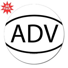 "ADV Oval 3"" Lapel Sticker (48 pk)"