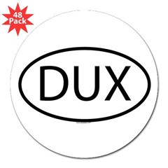 "DUX Oval 3"" Lapel Sticker (48 pk)"