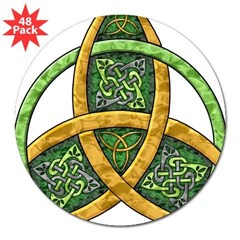 "Celtic Trinity Knot Rectangle 3"" Lapel Sticker (48 pk)"
