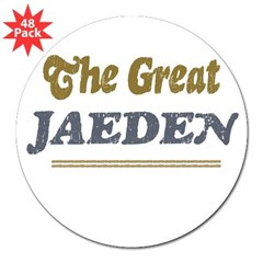 "Jaeden Rectangle 3"" Lapel Sticker (48 pk)"