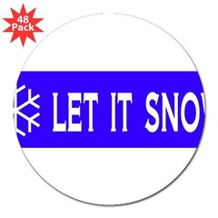"Think Snow 3"" Lapel Sticker (48 pk)"