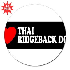 "THAI RIDGEBACK DOG 3"" Lapel Sticker (48 pk)"