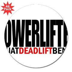 "POWERLIFTER Rectangle 3"" Lapel Sticker (48 pk)"