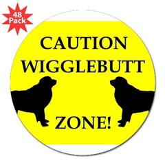 "Wigglebutt Zone 3"" Lapel Sticker (48 pk)"