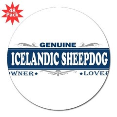 "ICELANDIC SHEEPDOG 3"" Lapel Sticker (48 pk)"