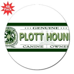 "PLOTT HOUND 3"" Lapel Sticker (48 pk)"