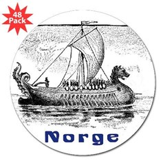 "NORGE Rectangle 3"" Lapel Sticker (48 pk)"