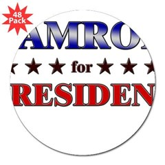 "CAMRON for president Rectangle 3"" Lapel Sticker (48 pk)"