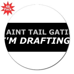 "Drafting 3"" Lapel Sticker (48 pk)"