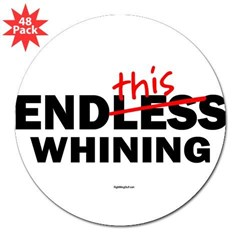 "EndThis Whining Oval 3"" Lapel Sticker (48 pk)"