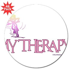 MY THERAPY Rectangle 3&quot; Lapel Sticker (48 pk)