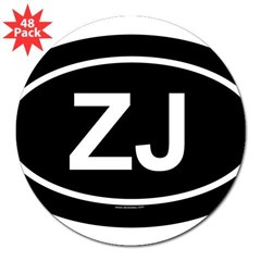 "ZJ Oval 3"" Lapel Sticker (48 pk)"