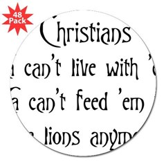 "Christians Rectangle 3"" Lapel Sticker (48 pk)"