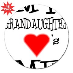 "My Grandaughter Loves Me Rectangle 3"" Lapel Sticker (48 pk)"