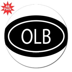 "OLB Oval 3"" Lapel Sticker (48 pk)"