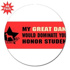 "Great Dane Domination - 3"" Lapel Sticker (48 pk)"