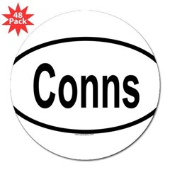 "CONNS Oval 3"" Lapel Sticker (48 pk)"