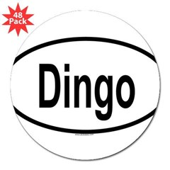 "DINGO Oval 3"" Lapel Sticker (48 pk)"
