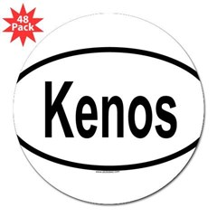 "KENOS Oval 3"" Lapel Sticker (48 pk)"
