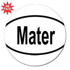 "MATER Oval 3"" Lapel Sticker (48 pk)"