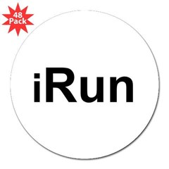 "iRun 3"" Lapel Sticker (48 pk)"
