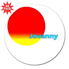 "Jovanny Rectangle 3"" Lapel Sticker (48 pk)"