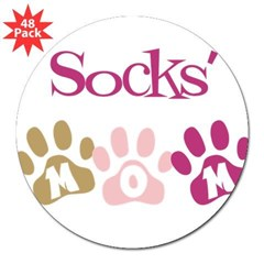 "Socks's Mom 3"" Lapel Sticker (48 pk)"