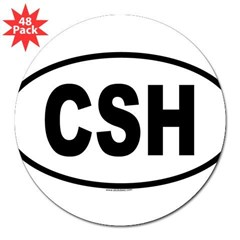 "CSH Oval 3"" Lapel Sticker (48 pk)"