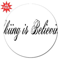 "Skiing is Believing Rectangle 3"" Lapel Sticker (48 pk)"