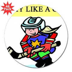 "hockey gifts t-shirts 3"" Lapel Sticker (48 pk)"