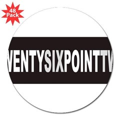 "TWENTYSIXPOINTTWO 3"" Lapel Sticker (48 pk)"