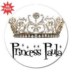 "Princess Paula Rectangle 3"" Lapel Sticker (48 pk)"