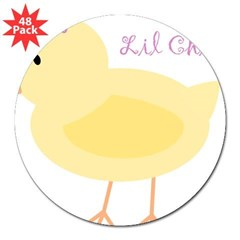 "Lil Chick Rectangle 3"" Lapel Sticker (48 pk)"