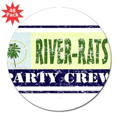 "River Rat Rectangle 3"" Lapel Sticker (48 pk)"