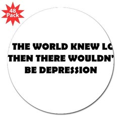 "DEPRESSION 3"" Lapel Sticker (48 pk)"