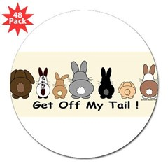 "Get Off My Tail 3"" Lapel Sticker (48 pk)"