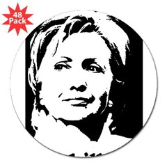 "Hillary Clinton Rectangle 3"" Lapel Sticker (48 pk)"