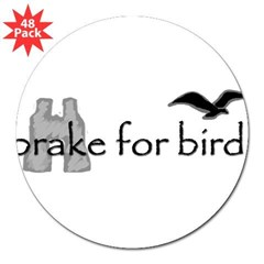 "birding 3"" Lapel Sticker (48 pk)"