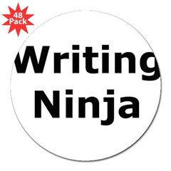 Writing Ninja Rectangle 3&quot; Lapel Sticker (48 pk)
