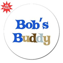 "Bob's Buddy 3"" Lapel Sticker (48 pk)"