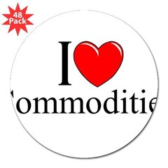 """I Love (Heart) Commodities"" 3"" Lapel Sticker (48 pk)"