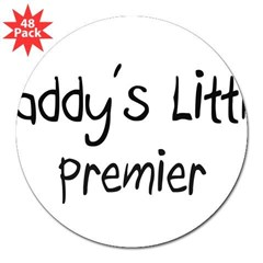 "Daddy's Little Premier 3"" Lapel Sticker (48 pk)"
