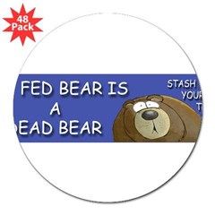 "BEAR 3"" Lapel Sticker (48 pk)"