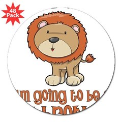"big brother t-shirts lion Rectangle 3"" Lapel Sticker (48 pk)"