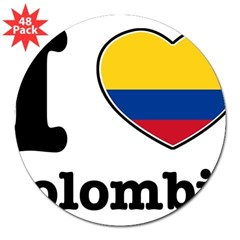 "I love Colombia Rectangle 3"" Lapel Sticker (48 pk)"